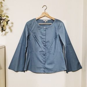 H by Halston Boatneck Bell Sleeve Blouse